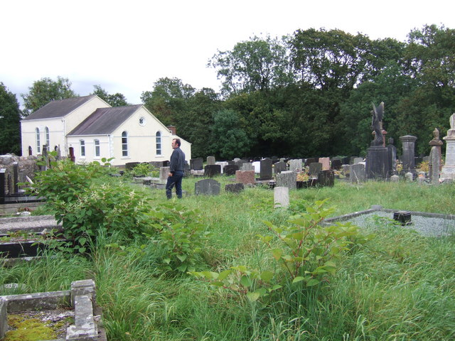 Tabernacle chapel and cemetery, Glanaman