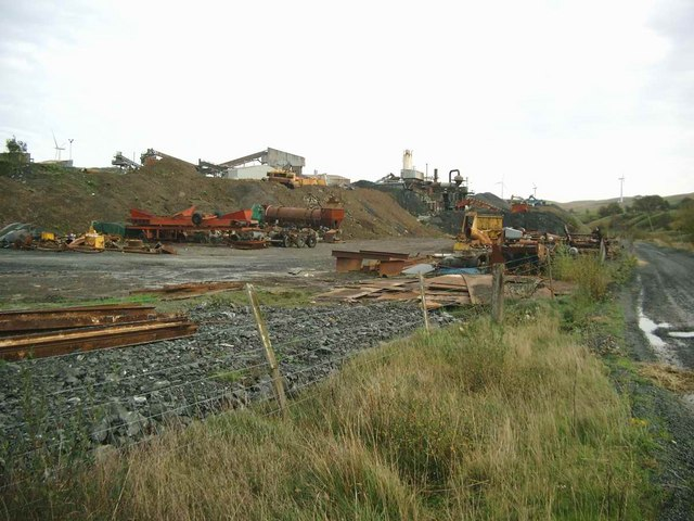 Surplus equipment at Tormitchell Quarry