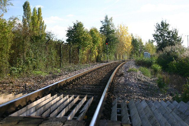 Single track line at Soham