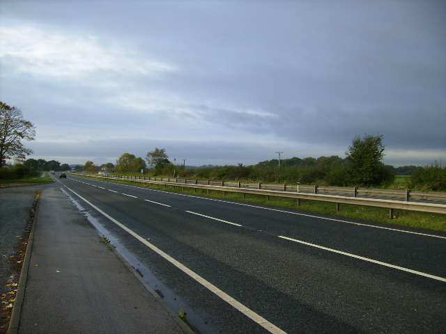 View near Bilbrough on the A64 towards Leeds