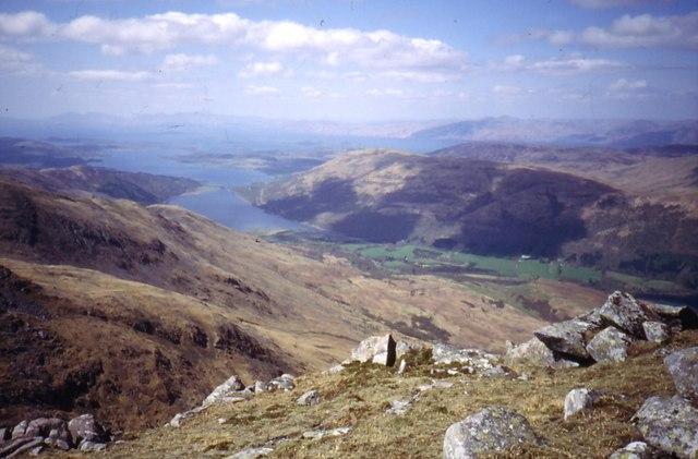 Loch Creran from Beinn Sgulaird