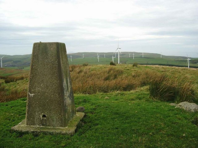 The trig on Auchensoul Hill