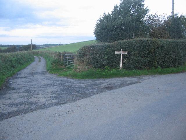 Lane to Bowbeer Farm