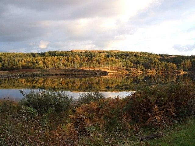 Loch Meadhoin on an autumn evening