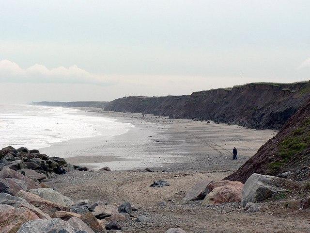 Mappleton sands (south) and riprap