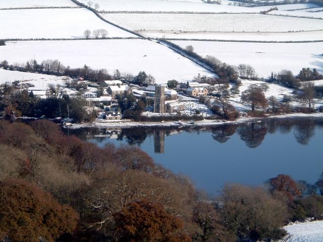 St Winnow snow