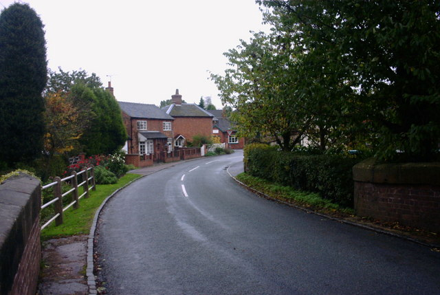 The Road into Milwich
