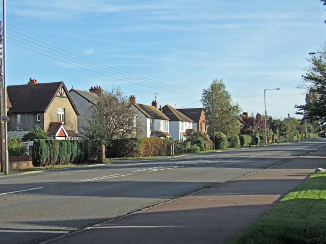 The A413 in Stoke Mandeville, going towards Wendover