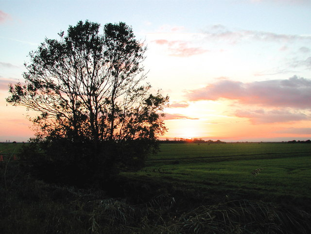 Sunset over Keyingham Marsh