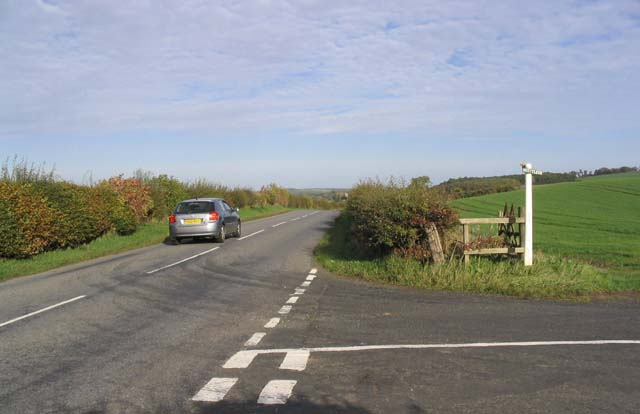 Road junction on the B6350