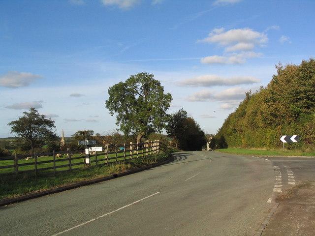 Road junction near Bulwick