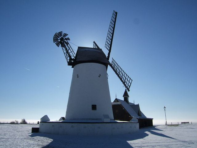 Lytham windmill in the snow