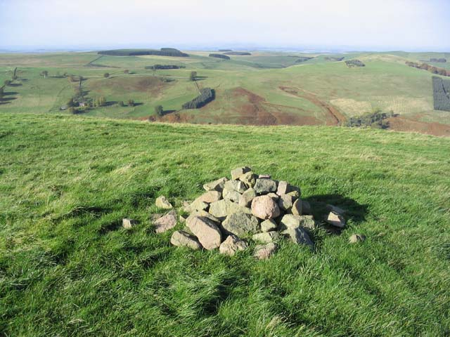 The summit of Tronshaw Hill
