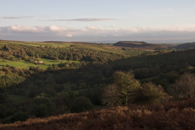 The lower part of Farndale