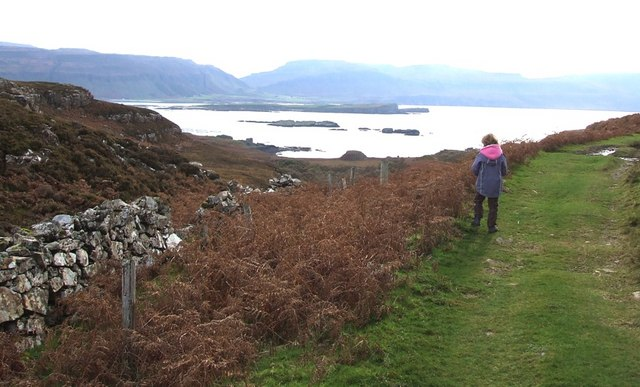 View from the path to Ormaig