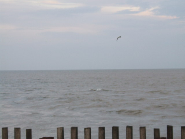 View to sea from Southwold Harbour Entrance