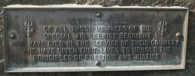 Plaque on Sir David Stirling monument