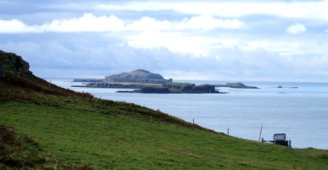 Treshnish Isles from above Port Haunn