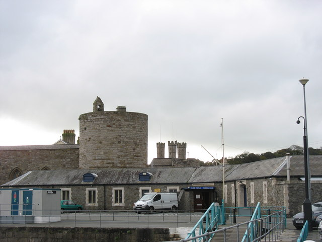 The Caernarfon Sailing Clubhouse at the Old RNR Battery
