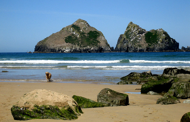 A Glorious day at Holywell Bay