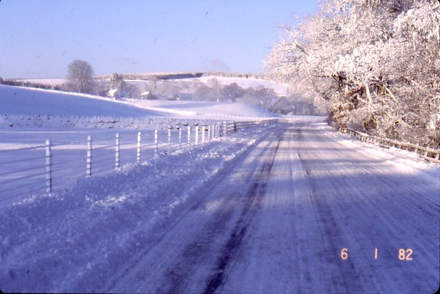 Snow scene near Smalesmouth