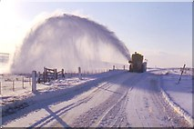NY8588 : Snowblower in action by Angus