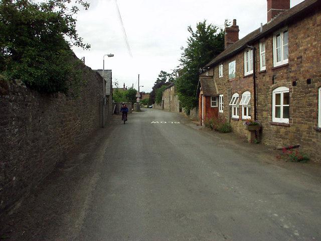 Main street through Wistanstow village