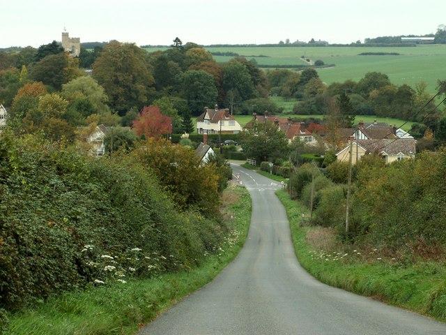 Hundon village, taken from Mare Hill