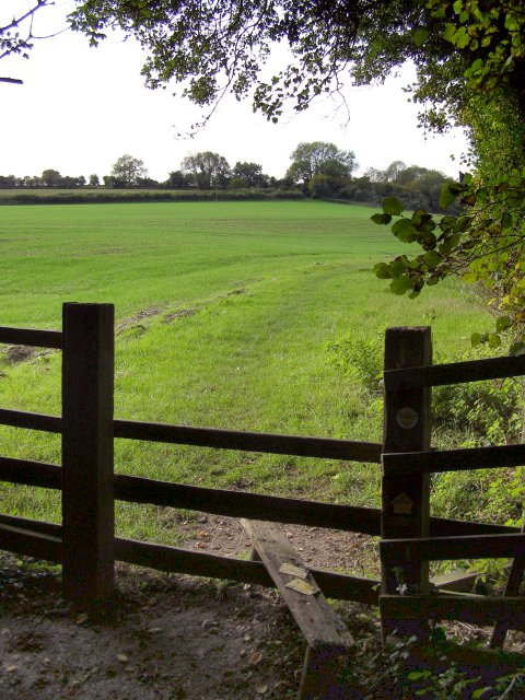 Field path between Lovington House and Yavington Mead