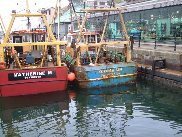 Fishing boats at Sutton Harbour, Plymouth