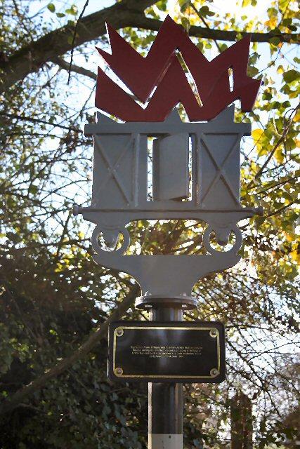 Memorial to railworkers at Soham