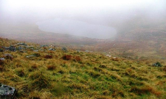 Balminnoch Loch Appears Out of the Mist