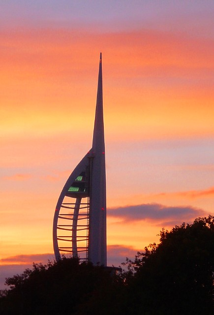 Spinnaker Tower at sunset