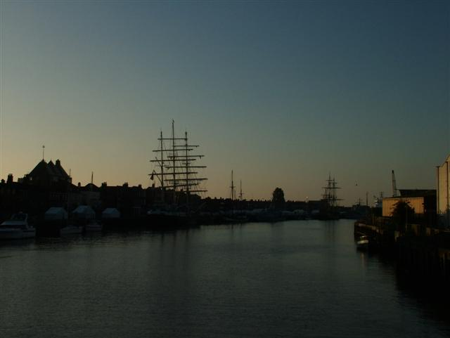 Dawn in Great Yarmouth Harbour
