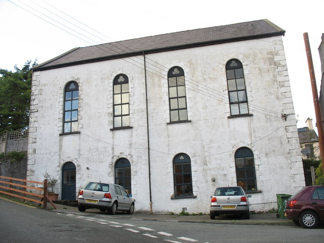 Capel Preswylfa - a disused chapel at the top of Goodman Street.