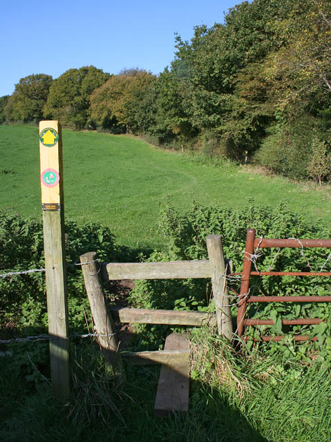 Footpath alongside the A50