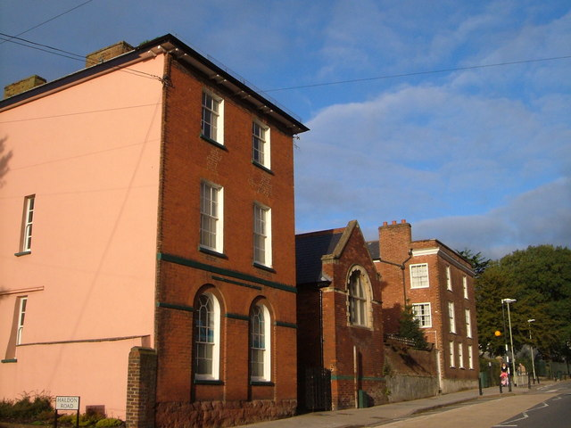 Buildings on St David's Hill, Exeter