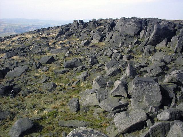 A sea of boulders at Blackstone Edge