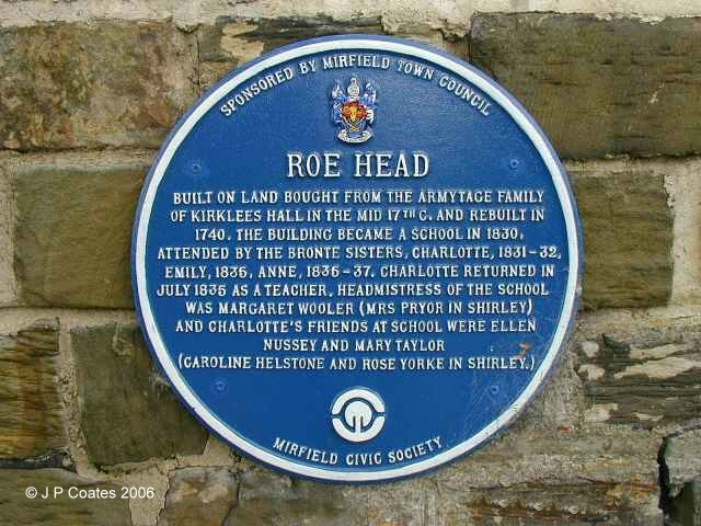 Roe Head School Name Plate