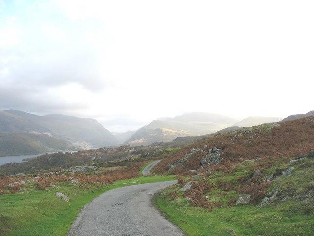 The gradual descent towards Llanberis