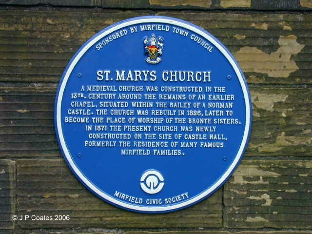 St Mary's Church plaque