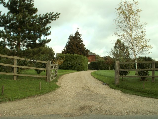 Entrance to Court Farm, just east of Glemsford, Suffolk