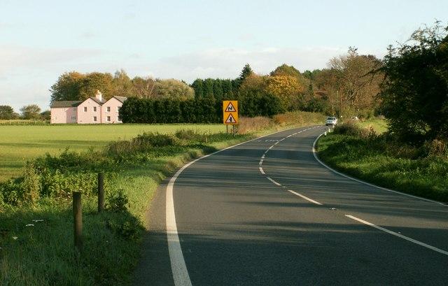 The A.1092 heading towards Long Melford, Suffolk