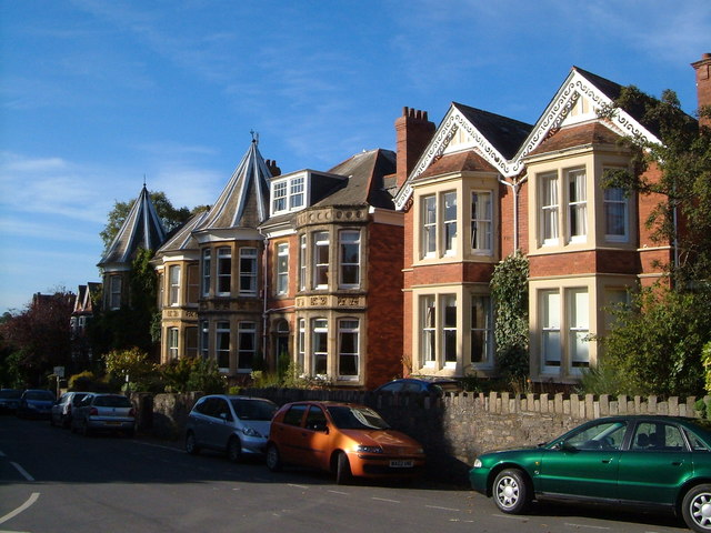 Houses at junction of Barnfield Hill and Spicer Road, Exeter
