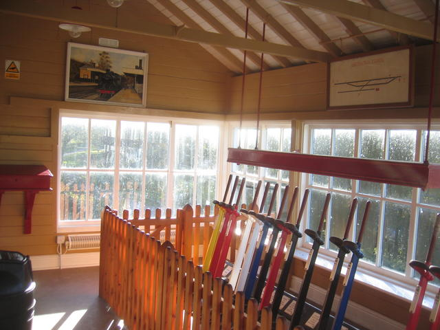 Interior of Hartington Signal Box
