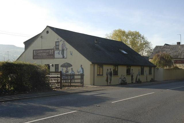 Llanwenarth Hotel on the A40(T) west of Abergavenny