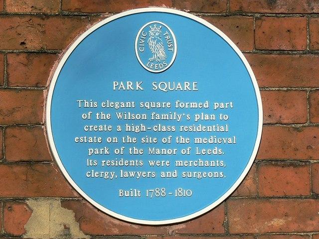 Blue Plaque, Park Square