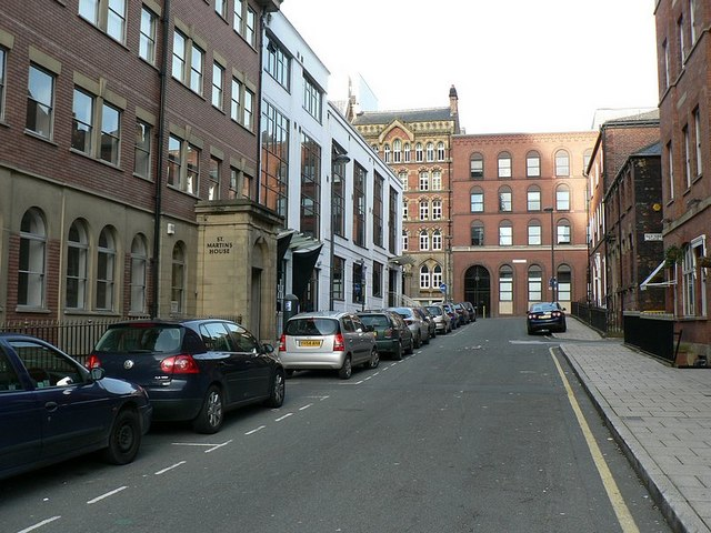 Britannia Street, from the junction with Wellington Street