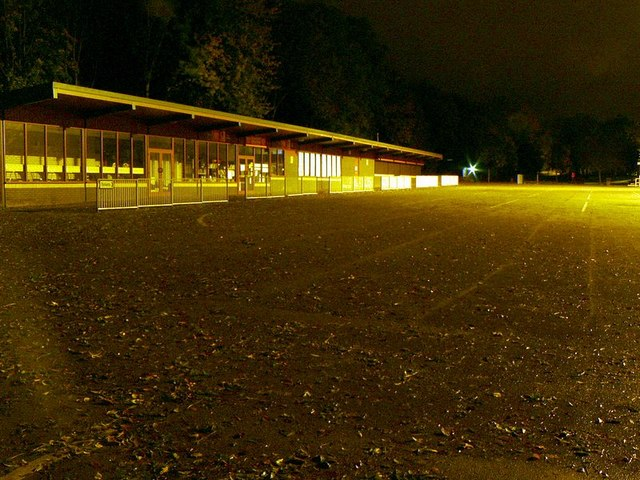 Cafe, Humber Bridge Information Centre, at night