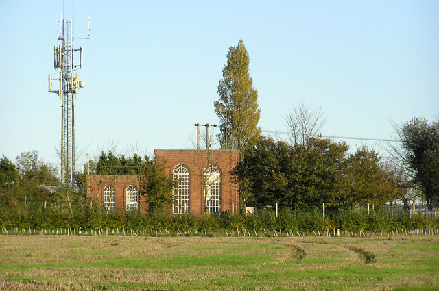 Essex Water pumping station and mobile phone mast
